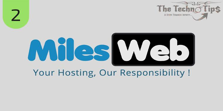 Recently MilesWeb is one of the top best SSD web hosting company which is from India.